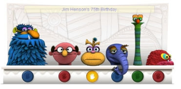 Google Doodle for Jim Henson's 75th Birthday