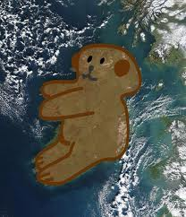 Ireland as a teddy bear""